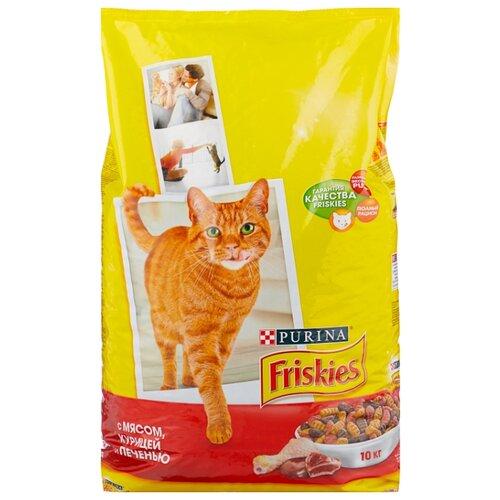Сухой корм для кошек Friskies профилактика МКБ, с курицей, с печенью 10 кг