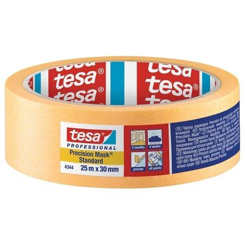 Фото - Клейкая лента малярная Tesa 4344, 30 мм x 25 м клейкая лента малярная tesa 55592 36 мм x 50 м