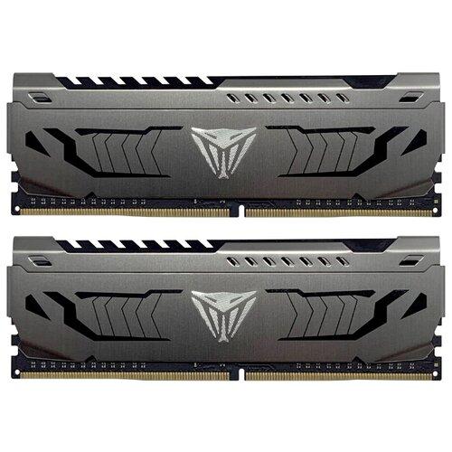 Купить Оперативная память Patriot Memory VIPER STEEL DDR4 3200 (PC 25600) DIMM 288 pin, 4 ГБ 2 шт. 1.35 В, CL 16, PVS48G320C6K