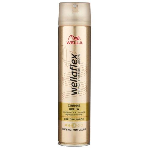 Wella Лак для волос Wellaflex Сияние цвета сильной фиксации, сильная фиксация, 250 мл wella лак для волос сильной фиксации stay styled 300 мл