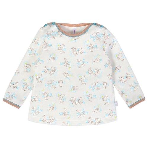 Купить Лонгслив Мамуляндия размер 74, молочный/голубой, Футболки и рубашки