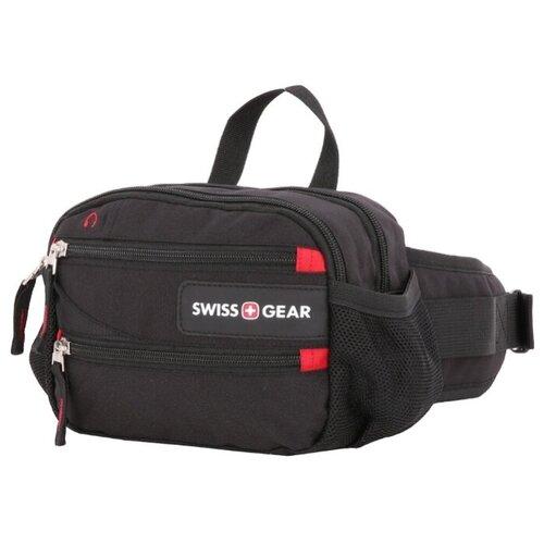 сумка планшет swissgear текстиль черный серый Сумка поясная SWISSGEAR, текстиль, черный