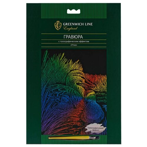 Купить Гравюра Greenwich Line Утки EA_22571 цветная основа с голографическим эффектом, Гравюры
