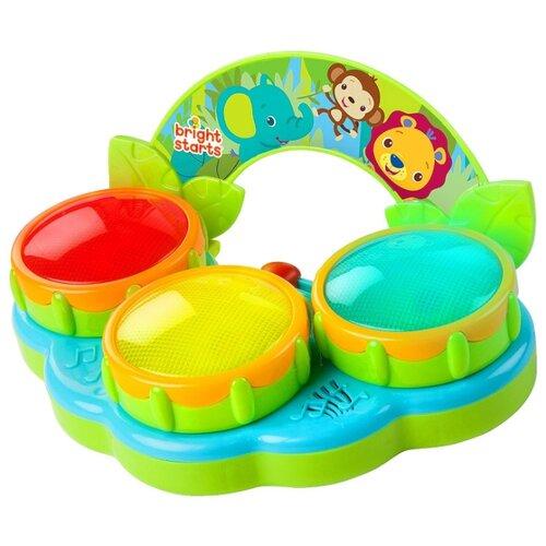 Интерактивная развивающая игрушка Bright Starts Сафари Барабаны зеленый/голубой bright starts bright starts развивающая игрушка весёлый китёнок