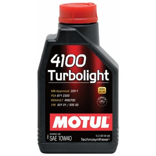 цена на Моторное масло Motul 4100 Turbolight 10W40 1 л