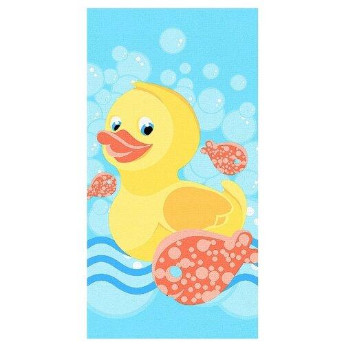 BRAVO полотенце Кря-кря банное 60х120 см голубой/желтый/красный