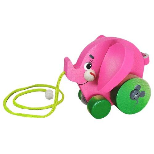 Каталка-игрушка Крона Слоник (213-051) розовый недорого