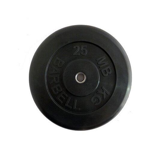 Диск обрезиненный черный MB ATLET d-26 25кг