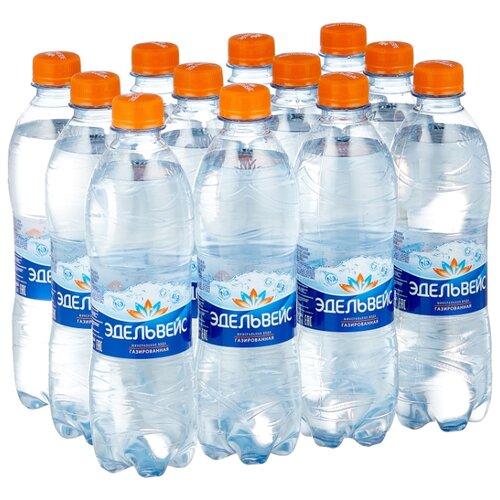 Минеральная вода Эдельвейс газированная, ПЭТ, 12 шт. по 0.5 л