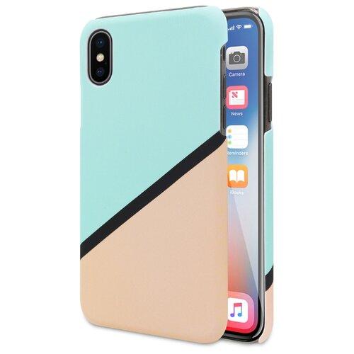 Чехол ANYLIFE Prism для Apple iPhone X бирюзовый/бежевый