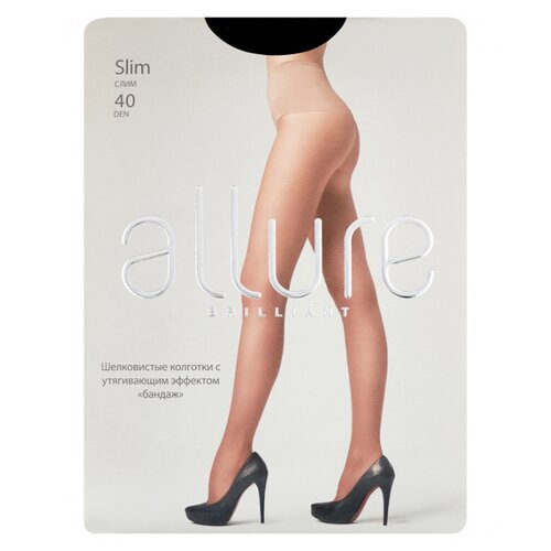 Колготки ALLURE Brilliant Slim, 40 den, размер 3, nero (черный)