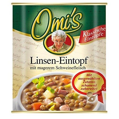 Omi's Рагу из чечевицы с кусочками постной свинины и овощами 800 г