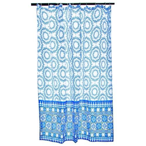 Штора для ванной Vetta 461-436 180х180 синий орнамент