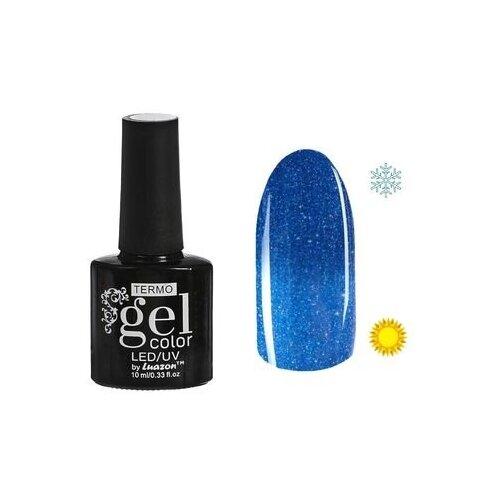 Фото - Гель-лак для ногтей Luazon Gel color Termo, 10 мл, А2-091 ярко-синий гель лак для ногтей luazon gel color termo 10 мл а2 076 пурпурный перламутровый