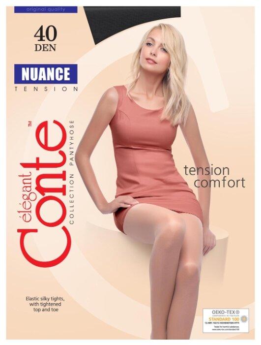Купить Колготки Conte Elegant Nuance 40 den, размер 2, nero (черный) по низкой цене с доставкой из Яндекс.Маркета