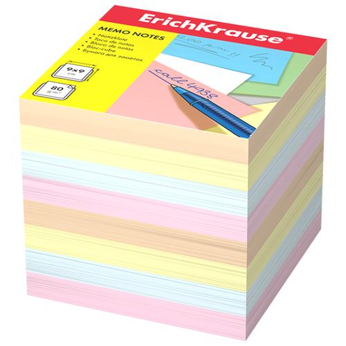Купить ErichKrause блок-кубик, 90x90x90 мм (999711188-4454/999711187-5140) ассорти, Бумага для заметок