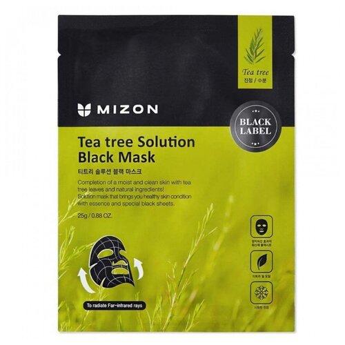 Mizon Маска для лица с экстрактом чайного дерева Tea Tree Solution Black Mask, 25 г mizon средство acence tea tree tock blemish spot точечное для лечения акне с экстрактом чайного дерева 15 мл