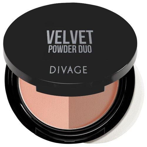 DIVAGE Velvet Duo пудра компактная 01 фото