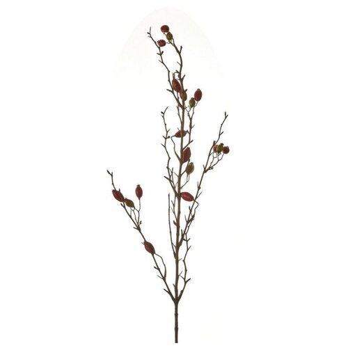 Декоративная ветка ШИПОВНИК красный, 90 см, Edelman