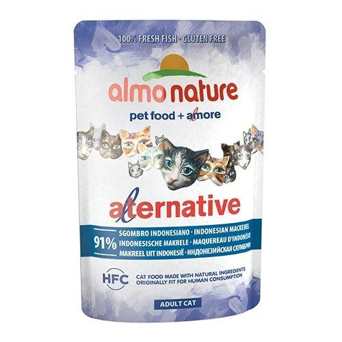 Влажный корм для кошек Almo Nature Alternative, с макрелью 55 г