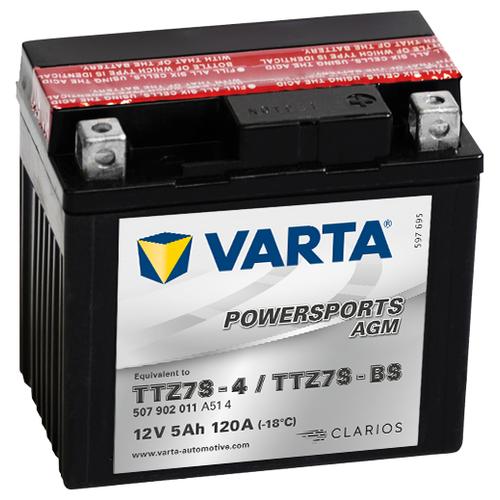 цена на Мото аккумулятор VARTA Powersports AGM (507 902 011)