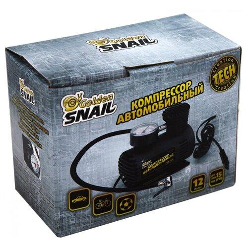 Автомобильный компрессор Golden Snail GS 9206 черный