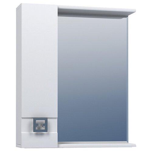 Шкаф для ванной Mixline Квадро-55/65/75 левый, (ШхГхВ): 65х15х70 см, белый