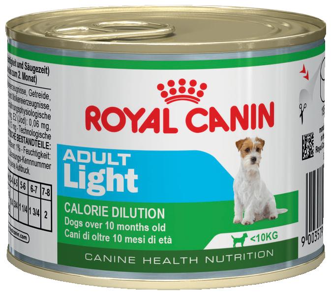 Корм для собак Royal Canin Adult Light сanine canned