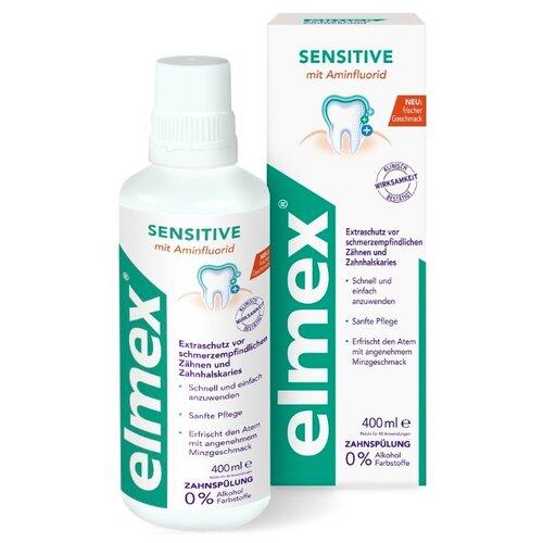 Купить Elmex ополаскиватель для полости рта Sensitive, 400 мл