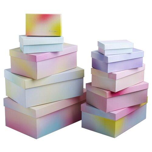 набор подарочных коробок ип выгодский денис владимирович микс 3 шт разноцветный Набор подарочных коробок Дарите счастье Нежность 10 шт. разноцветный