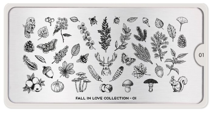 Трафарет MoYou London Fall in Love №01 12.5 х 6.5 см