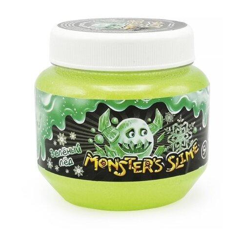 Лизун Monster's Slime Классический большой с блестками зеленый лед