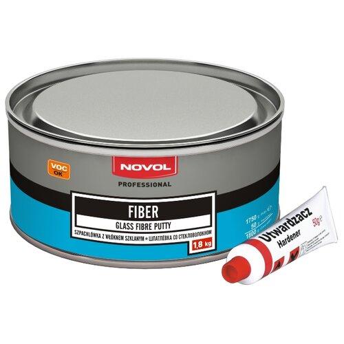 Комплект (шпатлевка, отвердитель) NOVOL FIBER 1.8 кг