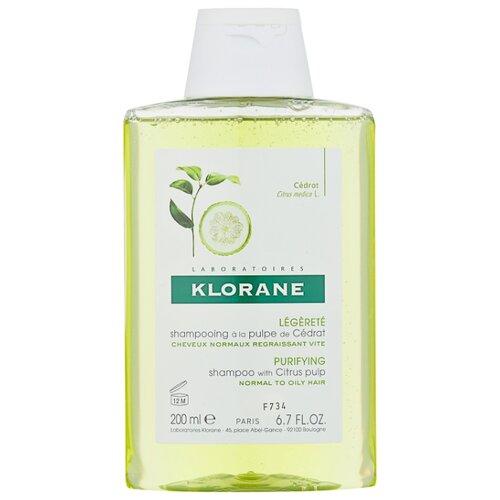 Klorane шампунь Energy and Shine with citrus pulp 200 мл детский шампунь klorane