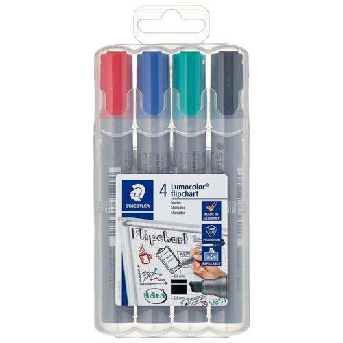 Купить Staedtler Набор маркеров для флипчарта Lumocolor, 4 шт. (356 B WP4), Маркеры