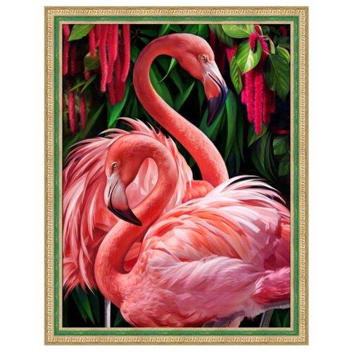 Алмазная живопись Набор алмазной вышивки Пара фламинго (АЖ-1739) 30х40 см алмазная живопись набор алмазной вышивки пылкие маки аж 1510 30х40 см