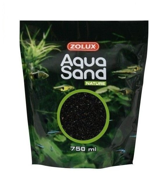 Грунт ZOLUX Aquasand Nature Noir Diamant 750 мл