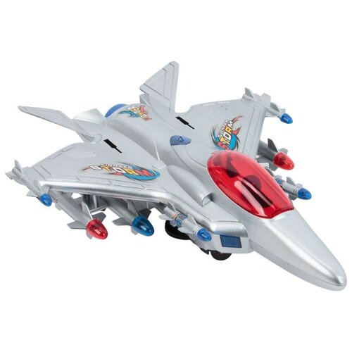 Самолет Игруша i-098 серый магнитный конструктор игруша magic magnetic i jh6883