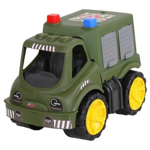 Купить Грузовик Джамбо Тойз Военная машина (JB5100023) 24 см зеленый, Машинки и техника