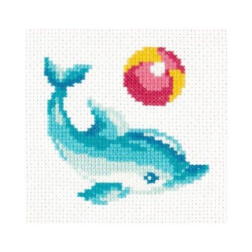Купить Чудесная Игла Набор для вышивания Дельфинчик, 12 х 12 см, 10-30, Наборы для вышивания