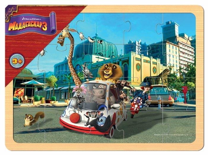 Рамка-вкладыш Step puzzle DreamWorks Мадагаскар 3 (89148), 20 дет.
