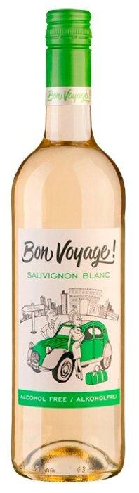 Вино белое сухое Bon Voyage Sauvignon Blanc безалкогольное 0,75 л