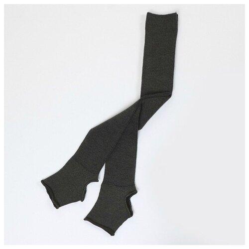 Гетры женские с открытой пяткой (60 см) - 007 (тёмно-серый) - размер универсальный/One size