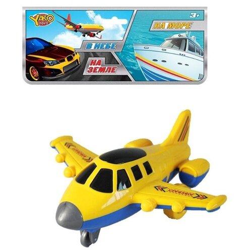 Фото - Самолет Yako На земле, В небе, На море (M9985) 16 см желтый/синий машинка yako на земле в небе на море в95599 красный