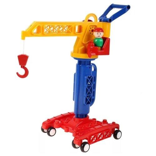Купить Подъемный кран Форма Детский сад (С-81-ф) 32 см желтый/синий/красный, Машинки и техника
