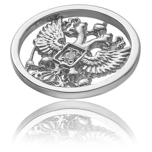 TOP CRYSTAL Брошь Герб серебряная 40225065