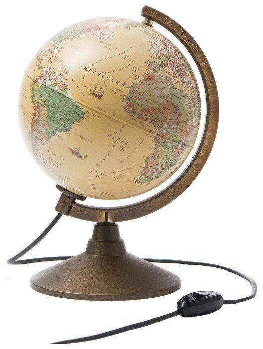 Глобус политический в стиле ретро Антик d=21 см с подсветкой Globen Ке012100283