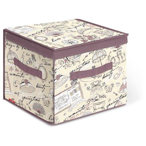 Valiant Короб стеллажный с откидной стенкой и с крышкой BOX-DDS 30х30х30 см Romantic