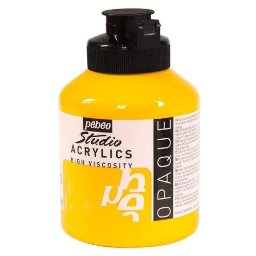 Pebeo Краска акриловая Studio Acrylics, 500 мл кадмий желтый pebeo краска акриловая decocreme кремовая матовая 120 мл 04 желтый