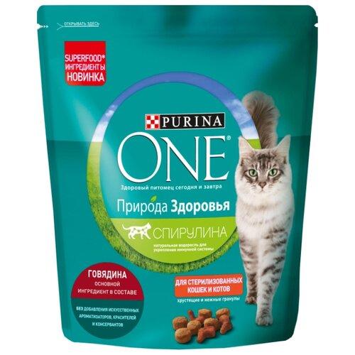 корм сухой purina one мини моя собака…уже взрослая с говядиной и рисом 600 г Сухой корм для стерилизованных кошек Purina ONE Природа Здоровья, с говядиной 680 г